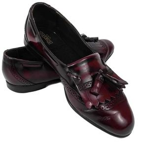 Dexter USA Mens Burgundy Tassel Penny Loafer Shoes